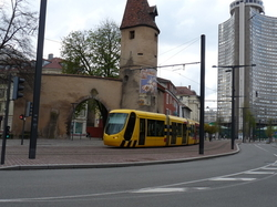 Porte de MULHOUSE Tour de l'Europe TRAM